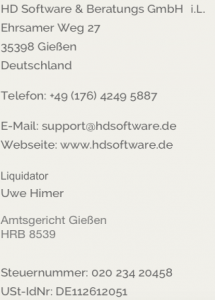 HD Software & Beratungs GmbH i.L.